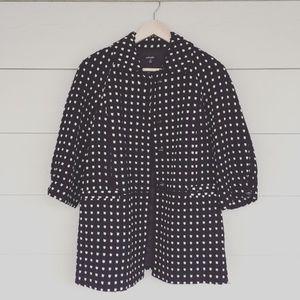 RAFAELLA Black and White Pea Coat